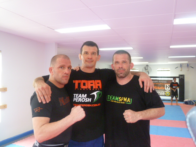 Travis Lutter, Anthony Perosh and Paul Halme