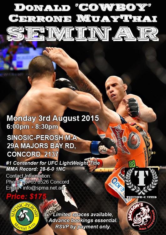 Donald_COWBOY_Cerrone_Kickboxing_Seminar_Sydney_August_2015