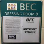 UFC FN33 Dressing room