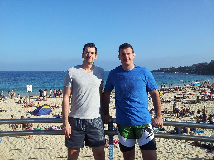 John and Anthony Perosh at Coogee Beach