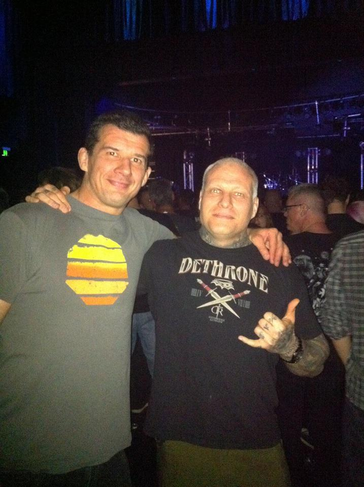 Anthony Perosh and paul Dallow at Fear Factory Sydney