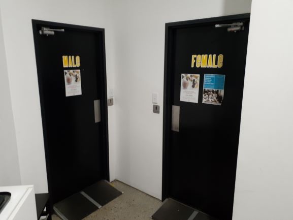 Male and female change rooms